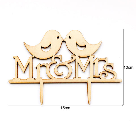 Image of Mr Mrs Wedding Cake Topper | Nicro Party