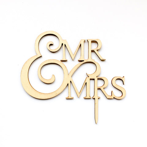 Mr Mrs Wedding Cake Topper | Nicro Party