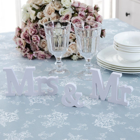 Image of mr mrs wedding sign