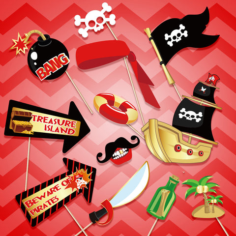 Image of Pirate Theme Photo Booth Props | Nicro Party