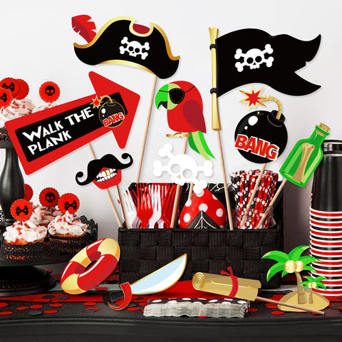 Pirate Theme Photo Booth Props | Nicro Party