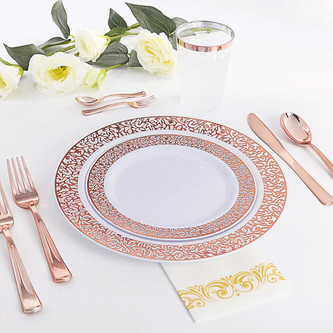 Image of Disposable Clear Dinnerware Set  | Nicro Party