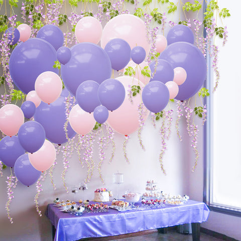 Image of Purple Pink Balloons Artificial Wisteria Kit