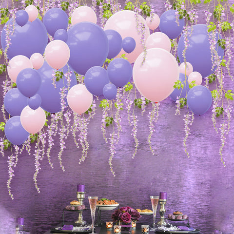 Purple Pink Balloons Artificial Wisteria Kit