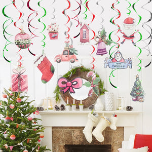 Santa Claus Car Spiral Ornaments | Nicro Party