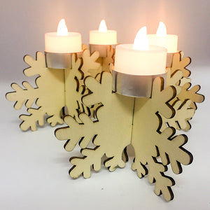 Snowflake Tea Light Candle Holder | Nicro Party