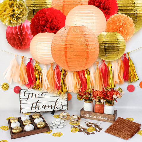 Image of Thanksgiving Party Decoration Kit