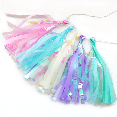 Unicorn Party Paper Foil Tissue Tassel