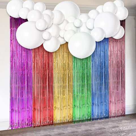 Unicorn Theme Tassel Curtain Balloons Kit