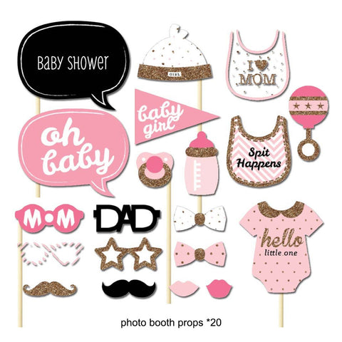 Baby Shower Girl Photo props