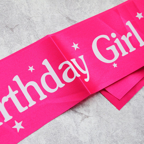 Image of Birthday Girl Sash Party Decoration
