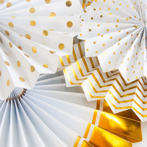 Gold Birthday Party Decorations Fans details