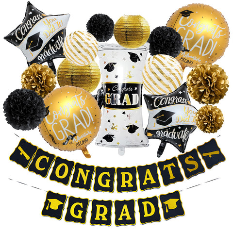 Image of Congrats Grad Graduation Party Decor Kit