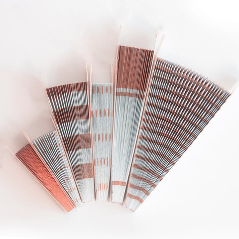 Image of Rose Gold Paper Fans Folded
