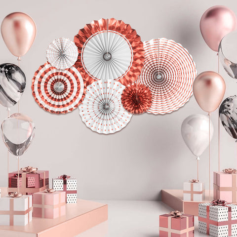 Image of Rose Gold Paper Fans