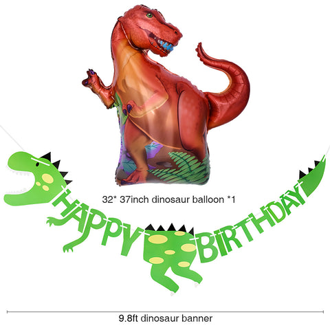 Image of Dinosaur Birthday Party Decoration Kit balloon and garland