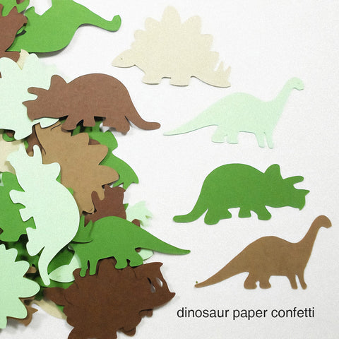 Image of Dinosaur Birthday Party Decoration Kit confetti