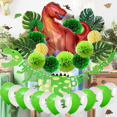 Image of Dinosaur Birthday Party Decoration Kit