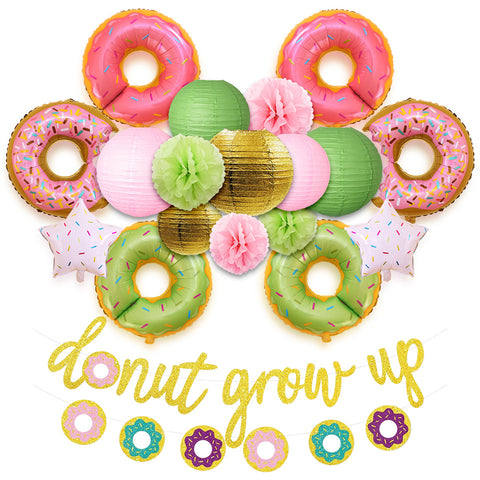 Image of Donut Grow Up Kids Birthday Decoration Kit