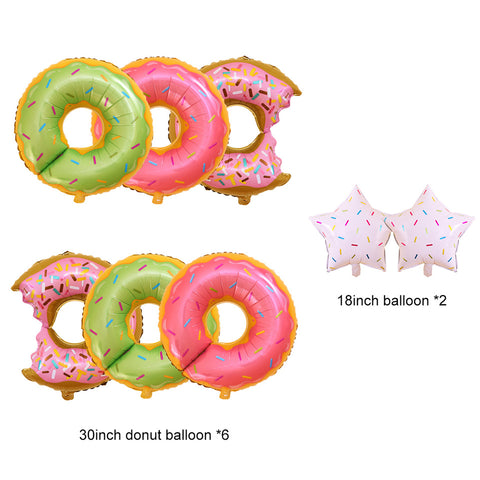 Image of Donut Grow Up Kids Birthday Decoration balloons