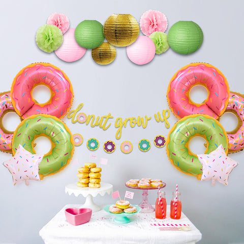 Donut Grow Up Kids Birthday Decoration Kit