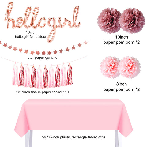 Hello Girl Rose Gold Party Kit