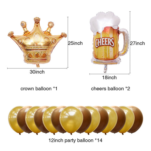 Image of National Beer Day balloons