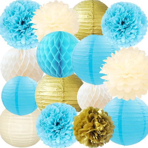Image of Paper Flowers Lanterns Kit