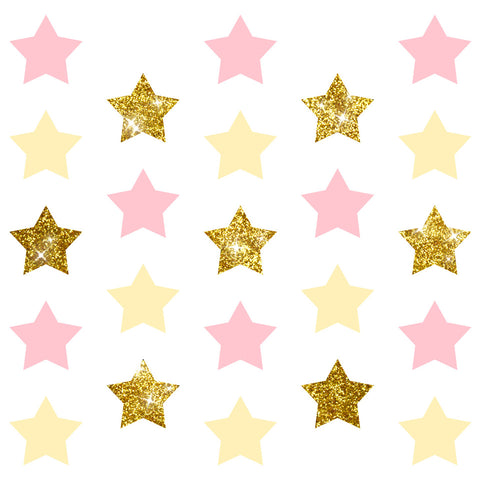 Image of Pink Party Decoration star confetti