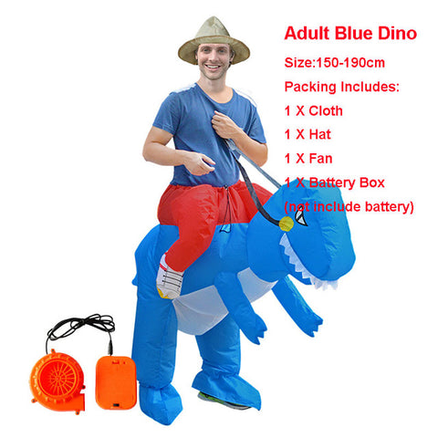 Image of Adult Kid Inflatable Dinosaur Costume
