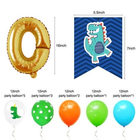 Image of ROAR Birthday Decoration balloons
