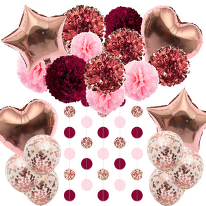 Rose Gold Party Decoration Kit