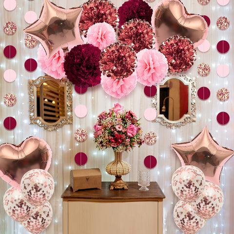Image of Rose Gold Party Decoration Kit