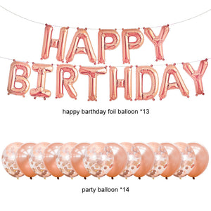 rose gold party decorations balloons