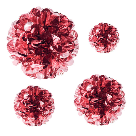 Image of Rose Gold PET Flower Pom Pom 6 8 10 14 inches | Nicro Party