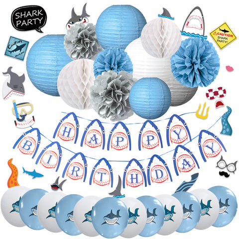 Image of Shark Birthday Party Decoration