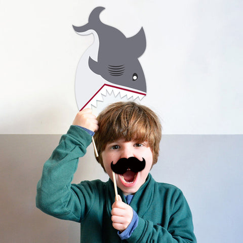 Image of Shark Birthday Party Decoration boy show