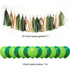 Summer Party Decoration balloons tassels