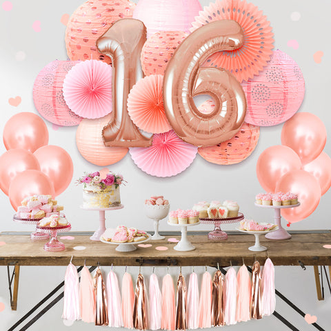 Image of Sweet 16 Decorations Kit