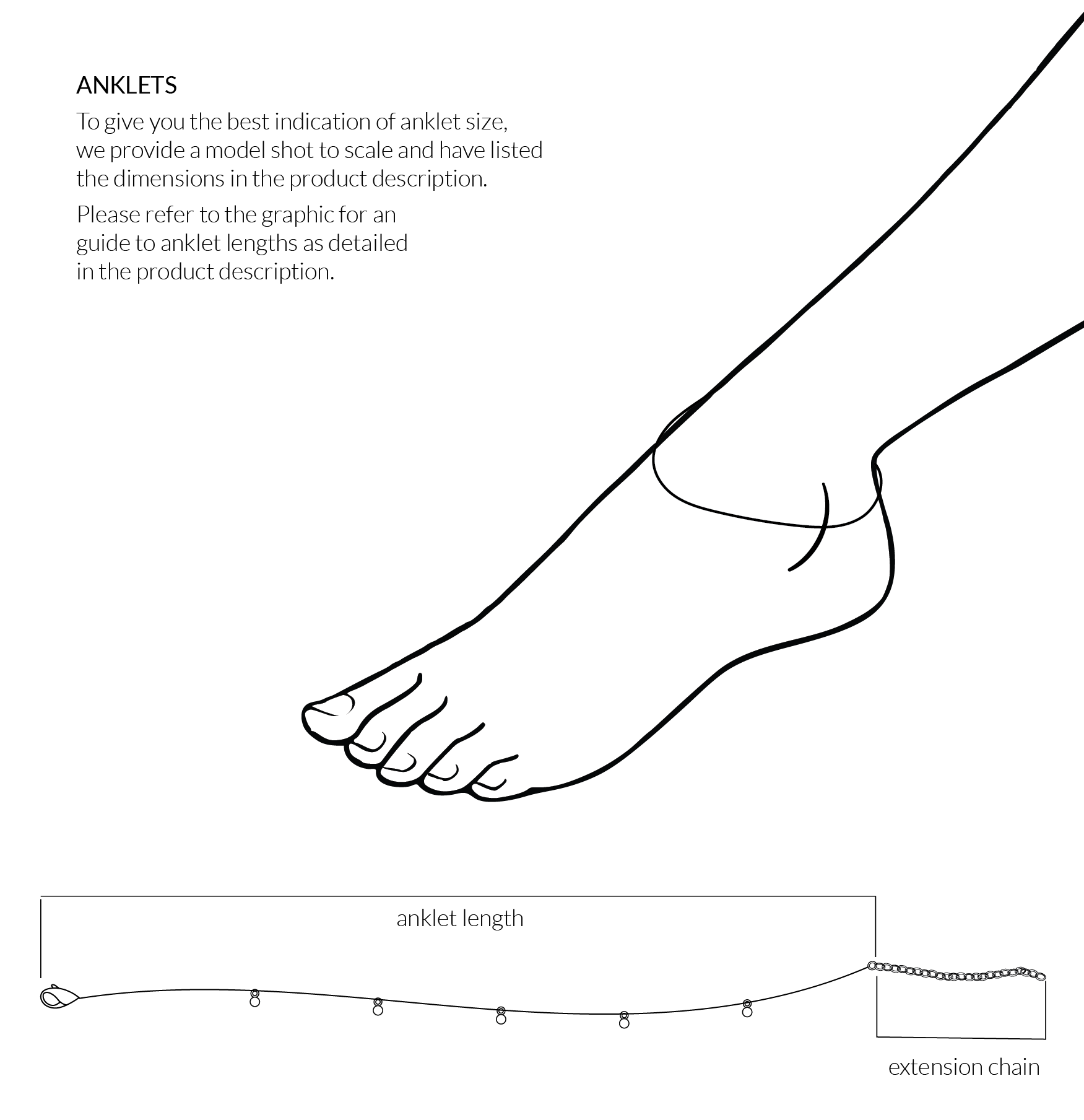 Anklet Sizing Guide