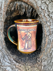 Plague Doctor Mug Honey Brown & Green #2 Free shipping
