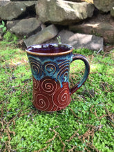 Load image into Gallery viewer, Red Swirly Mug