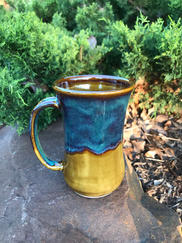 Honey Brown & Green Mug