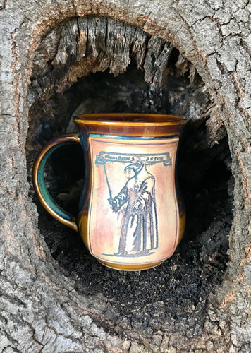 Plague Doctor Mug Honey Brown & Green Free shipping