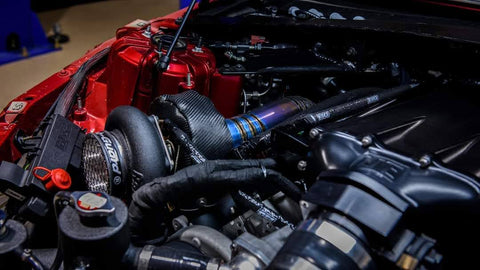 Titanium Downpipes on Twin Turbo Caddilac CTS-V3
