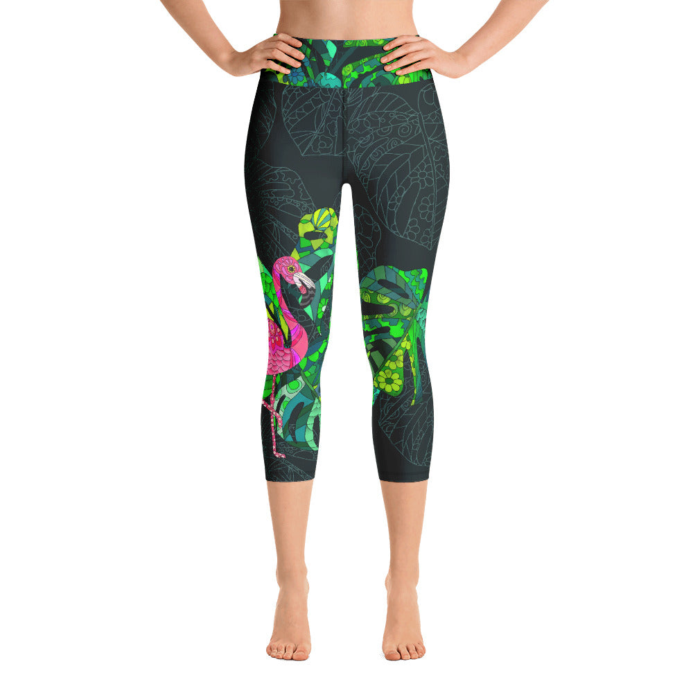High-Rise Capri Leggings