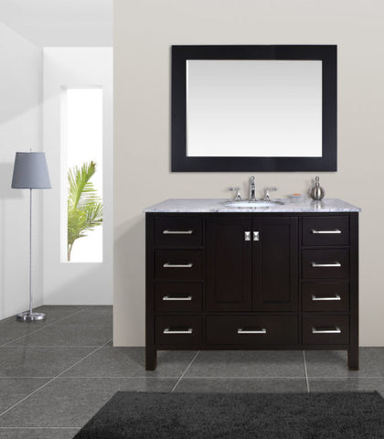 Single Sink Bathroom Vanity with Mirror