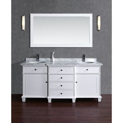 Double Sink Bathroom Vanity with Mirror