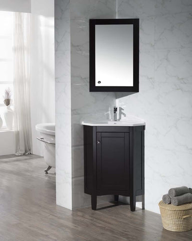 Corner Bathroom Vanity with Medicine Cabinet