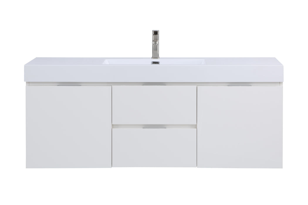 Stufurhome Valeria 59 inch Wall Mounted Single Sink Bathroom Vanity, No Mirror myhomeandbath